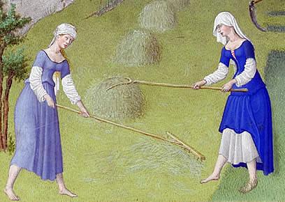 Mittelalterliche Kleidung und Arbeit
